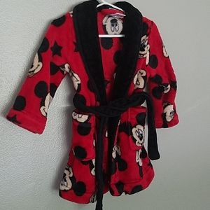 Cozy Mickey Mouse robe, 2T